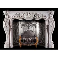 Buy cheap Home decoration Marble stone fireplace mantel surrounds,China marble fireplace supplier from wholesalers