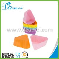Wholesale Triangle Shape Mini Cupcake Silicone Baking Mold/Muffin Cupcake Mould from china suppliers
