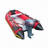 Quality Aluminum deck inflatable sports boat with outboard engine for sale