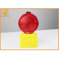 Wholesale Red / Yellow LED Blinking Dry Battery Traffic Warning Lights For Police Equiprment from china suppliers