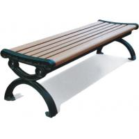 Wholesale Park Outdoor Site Amenities Rustic Appearance , Square Leisure Bench With Backrest from china suppliers