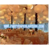Wholesale Different Shaped Decorating Wedding Paper Lanterns With Soft Colors , Size Customized from china suppliers