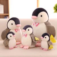 Quality Customized Personalized Plush Toys Cute Penguin With Bow Tie , White and Black Color for sale