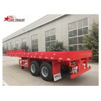 Wholesale 2 Axles 30ft 30Ton Flatbed Semi Trailer For Transporting Construction Machinery from china suppliers