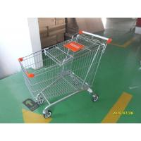 Wholesale Safety Handle Bar 4 Wheel Shopping Trolley 210L With Colored Plastic Parts from china suppliers