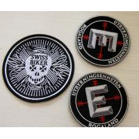 Wholesale Round Velcro Custom Embroidered Patches , embroidered name patches from china suppliers