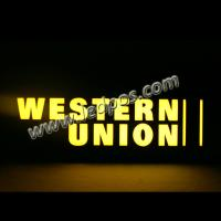 Wholesale Western Union Backlit Neon Sign from china suppliers