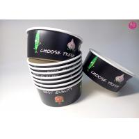 Wholesale 32oz Black Background Paper Salad Bowls Eco Friendly take out salad containers 44oz from china suppliers