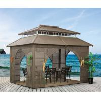 Wholesale China garden house outdoor pavilion with sofa garden rattan tents 1115 from china suppliers