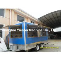 Wholesale Kitchen Equipment Fiberglass Concession Trailers Outdoor Food Kiosk from china suppliers