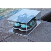 Wholesale Clear Acrylic Shoe Box with printing Logo from china suppliers