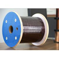 Wholesale 0.02 * 0.155mm Super / Ultra Fine Magnet Wire Flat Enamelled Copper Wire from china suppliers