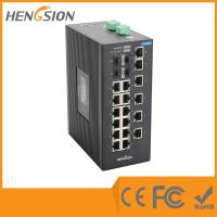 Wholesale 18 Port Industrial managed ethernet switch , 4 SFP Gigabit fiber network switch from china suppliers