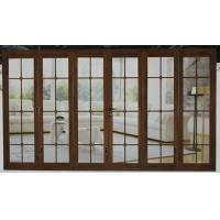 Wholesale White, wood grain anti-corrosion aluminum bifold doors for office building from china suppliers