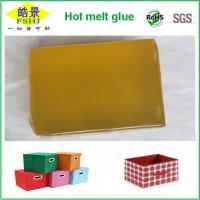 Wholesale Yellow Hot Melt Pressure Sensitive Adhesive Block For Fabric Boxes Bonding from china suppliers