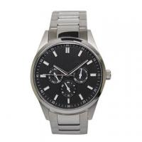 Wholesale Quartz Chrono Stainless Steel Watches with Minera Glass Lens , black face from china suppliers