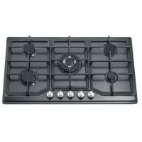 Wholesale Black Stainless Steel Black Gas Hob 5 Burner , 86cm Five Burner Gas Stove from china suppliers