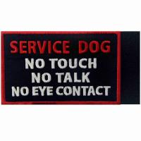 China DON'T TOUCH ME Custom Cloth Badges Embroidery Woven Patches For Working Dogs on sale