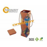 Wholesale Flat Packaging Cardboard Wine Packaging Boxes 750ml Bottle Wine Box from china suppliers