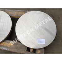 Wholesale SB265 Gr.1 Titanium / Carbon Steel Clad Tubesheet for Condensers from china suppliers