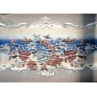 Wholesale Long Flower Design Embroidered Curtain Fabric Modern Curtain Fabric from china suppliers