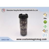 Wholesale V Shape Double Wall Drinking Plastic Coffee Cups With Lids 350ml 12oz from china suppliers