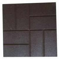 China Flagface Rubber Paver for Patios or Walkways, with Long Lifespan on sale