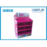 Quality 4 Tiers Promotion Corrugated Cardboard Floor Displays 37*27*138 Cm for sale