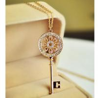 Wholesale fashion gold and silver  jewelry, lovely korean jewelry,key letter T necklace pendent from china suppliers