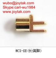 Wholesale High quality gold plated MCX jack streight PCB mount type coaxial connector MCX-KEL from china suppliers