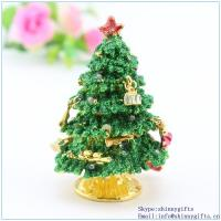 Quality Small christmas tree trinket box  keepsakebox, gift, collectibles, decoration SCJ117-2 for sale