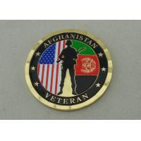 Wholesale Brass Stamped Afghanistan Veteran Personalized Coins With Box Packing And Gold Plating from china suppliers