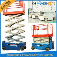 Wholesale Self Propelled Elevating Work Platforms , CE Hydraulic Electric Aerial Lift Scaffolding from china suppliers