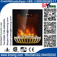 Wholesale Wall Mounted Electric Fireplace Heater digit display flat tempered glass black LED flame (Pebbles Fuel) EF590/EF591 from china suppliers