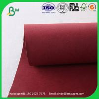 Wholesale Environment-friendly thcikness 0.55mm  width 150cms   Red Kraft Washable Paper Fabric from china suppliers