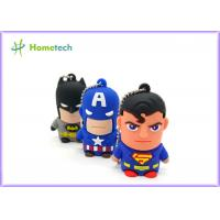 Wholesale Hero Series Cartoon Usb Flash Memory , Usb 2.0 Memory Stick Pvc Or Soft Plastic Material from china suppliers