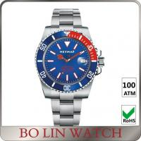 Wholesale Brushed Solid Stainless Steel Divers Wrist Watches , 1000m Waterproof Watch For Swimming from china suppliers