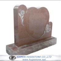 Wholesale Red Heart Shaped Granite Tombstone with Lace from china suppliers