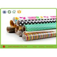 Wholesale Metallic Wrapping Paper Roll With Stars / Bows , Decorative Cute Wrapping Paper from china suppliers