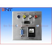 Wholesale Silver Multimedia Wall Socket Square Corner For Hotel Media Solutions from china suppliers