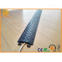 Wholesale Yellow Floor Cord Protector Cover Ramp 1 Channel PE Rubber Floor Cable Cover For Indoor from china suppliers