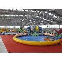 Wholesale 25M Waterproof Giant Inflatable Backyark Water Park With Huge Dinosaur from china suppliers