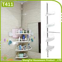 Household Supplier Multi Layer Save Space Stainless Steel Bathroom Telescopic Corner Shelf