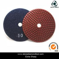 Buy cheap velcro backed wet stone diamond polishing pads/marble abrasive tools from wholesalers