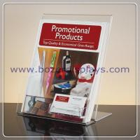 Wholesale Slant-back Clear Acrylic Literature Holder With Business Card Pocket from china suppliers