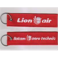 Quality Lion Air Batam Aero Technic Embroidery Keychain Custom Logo Key Chain for sale