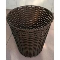 Wholesale China produce Eco-friendly rattan waste bin, trash basket, wastebasket from china suppliers
