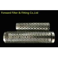 Wholesale Round Hole SUS316 / 316L Stainless Steel Perforated Tube For Exhaust Tubes from china suppliers