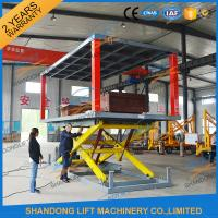 Quality Scissor Hydraulic 2 Level Underground Parking Car Lift With CE , Car Lift Parking System for sale