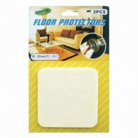 Wholesale Self Adhesive Square Shape Floor/Chair Leg Protector, Sized 85 x 85mm from china suppliers
